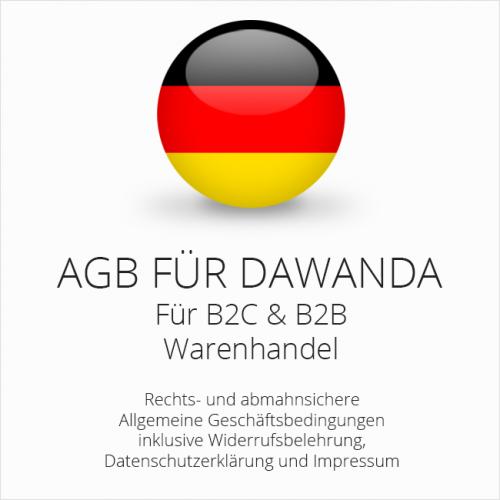 Abmahnsichere AGB für DaWanda B2C & B2B