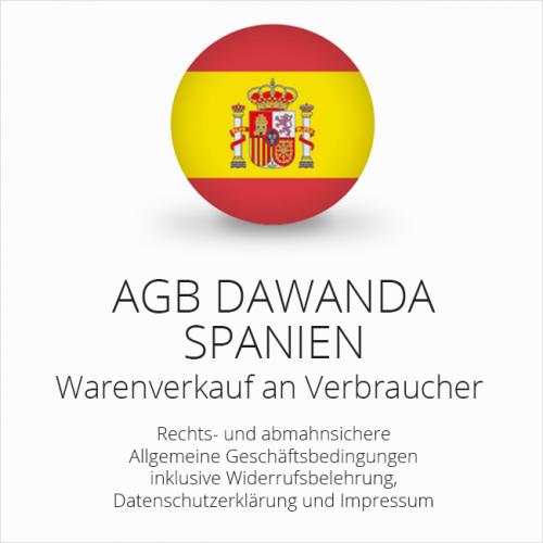 Abmahnsichere AGB DaWanda Spanien