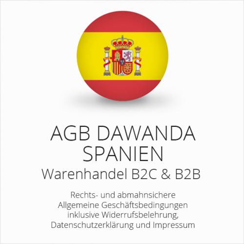 Abmahnsichere AGB für DaWanda Spanien B2C & B2B