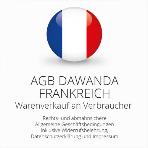 Abmahnsichere AGB DaWanda Frankreich