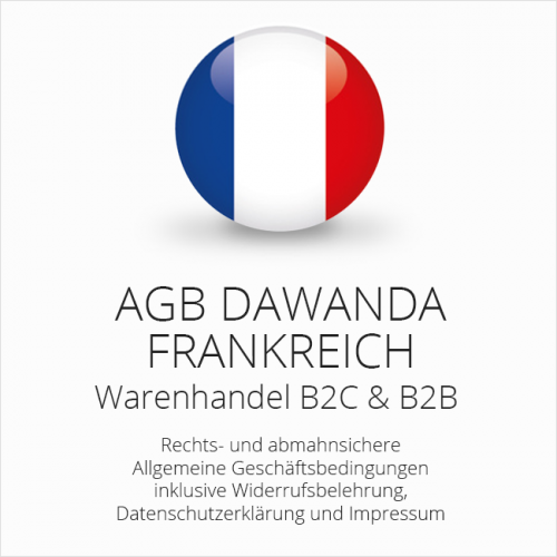 Abmahnsichere AGB für DaWanda Frankreich B2C & B2B