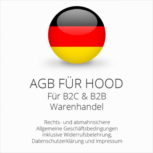 Abmahnsichere AGB für Hood B2C & B2B