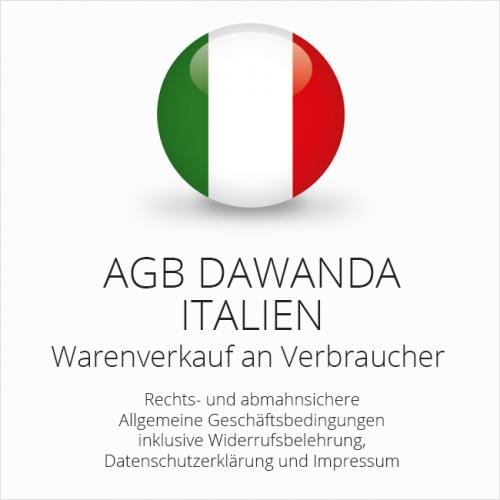 Abmahnsichere AGB DaWanda Italien