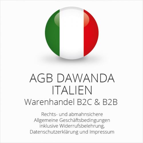 Abmahnsichere AGB für DaWanda Italien B2C & B2B