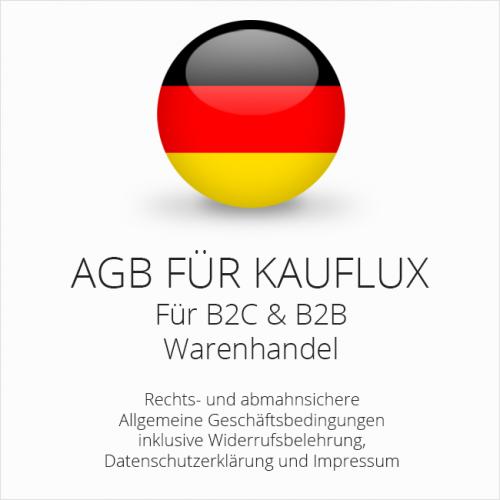 Abmahnsichere AGB für Kauflux B2C & B2B
