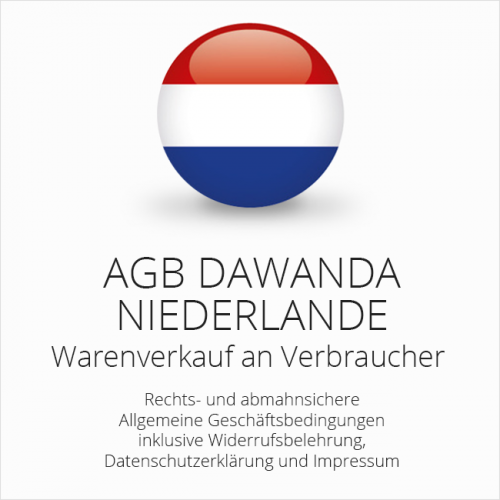 Abmahnsichere AGB DaWanda Niederlande