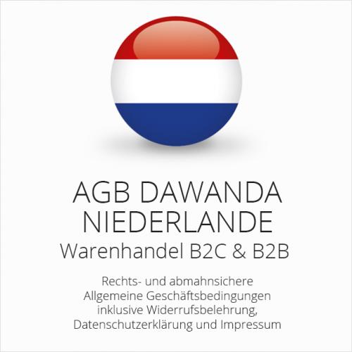 Abmahnsichere AGB für DaWanda Niederlande B2C & B2B
