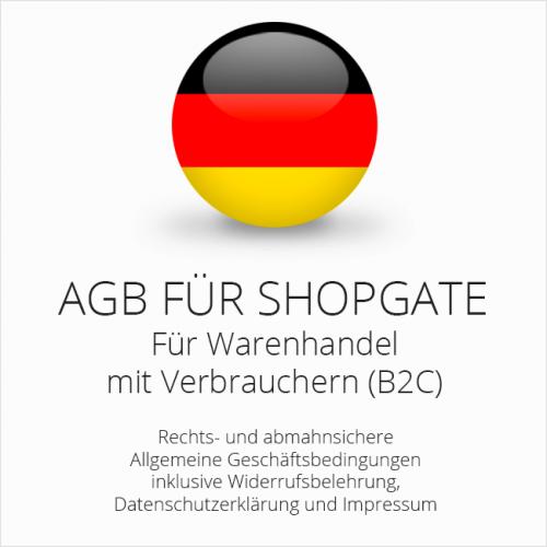 Abmahnsichere AGB für Shopgate inklusive Update-Service. Jederzeit monatlich kündbar.