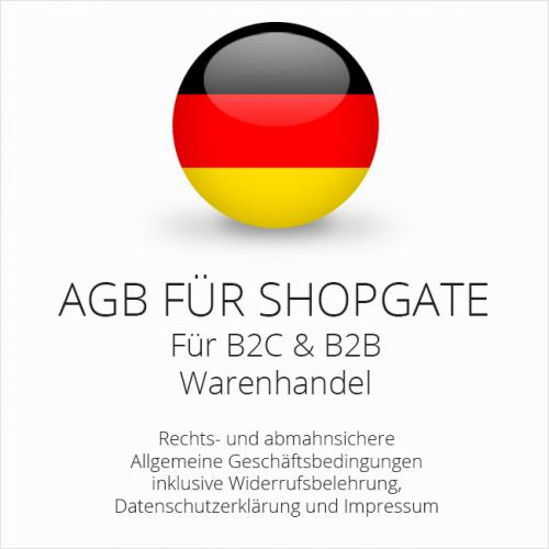 Abmahnsichere AGB für Shopgate B2C & B2B
