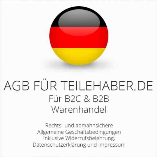 Abmahnsichere AGB für Teilehaber.de B2C & B2B