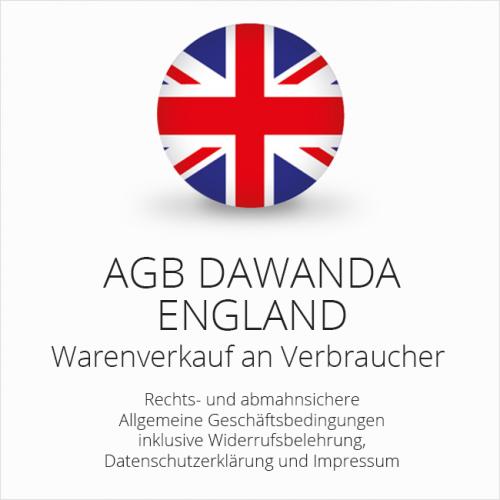Abmahnsichere AGB DaWanda England
