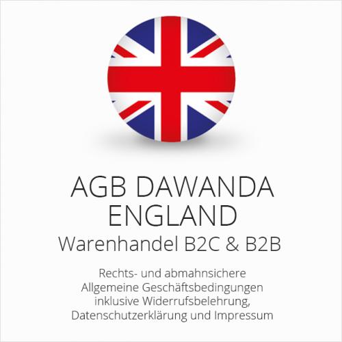 Abmahnsichere AGB für DaWanda England B2C & B2B