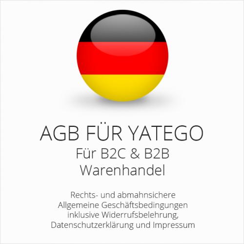 Abmahnsichere AGB für Yatego B2C & B2B