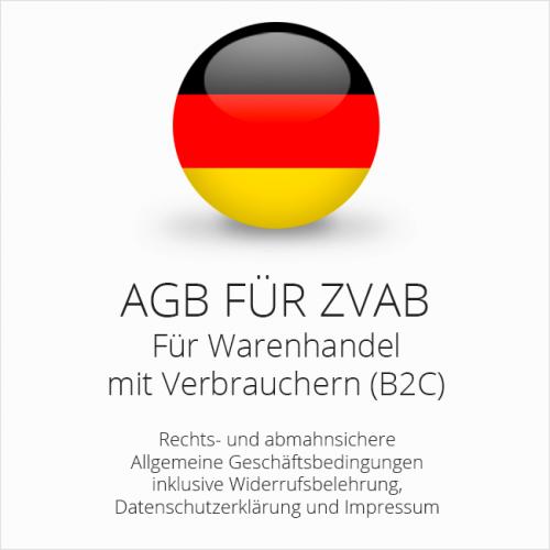 Abmahnsichere AGB für ZVAB inklusive Update-Service. Jederzeit monatlich kündbar.