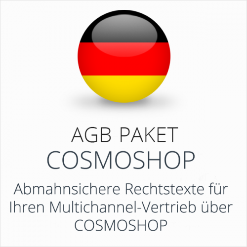 Das Multichannel-AGB-Paket CosmoShop