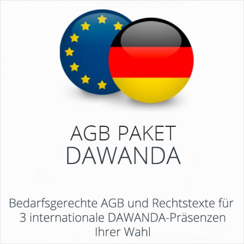 Das AGB Paket DaWanda mit abmahnsicheren Rechtstexten für deutsche & internationale DaWanda Präsenzen