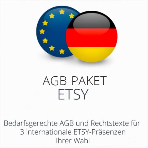 Das AGB Paket Etsy mit abmahnsicheren Rechtstexten für deutsche & internationale Etsy Präsenzen