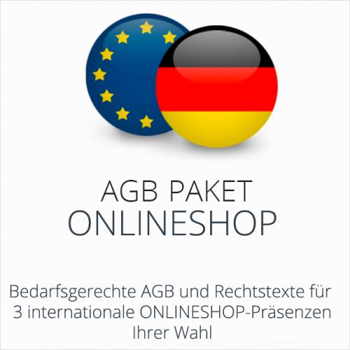 Das AGB Paket Onlineshop mit abmahnsicheren Rechtstexten für deutsche & internationale Onlineshop Präsenzen