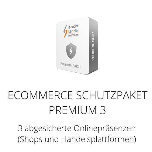 Das Ecommerce Schutzpaket Premium 3 inklusive Update-Service