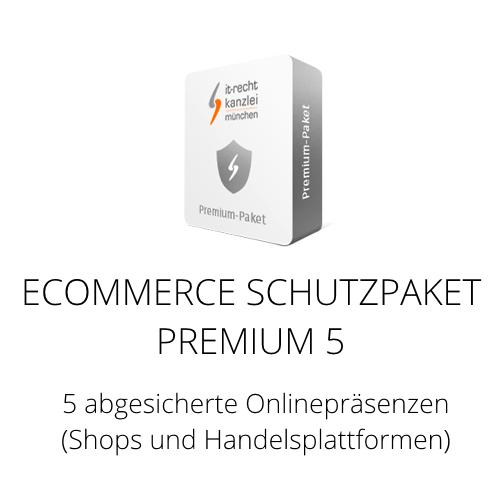Das Ecommerce Schutzpaket Premium 5 inklusive Update-Service