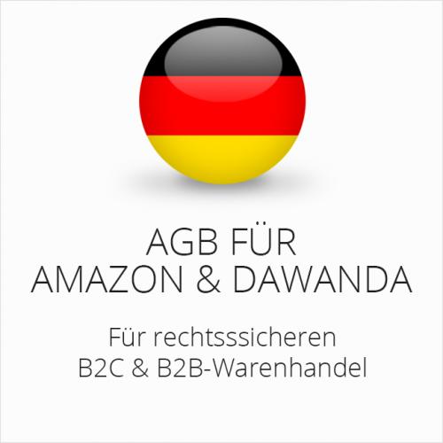 Rechtssichere AGB für Amazon und DaWanda B2C & B2B