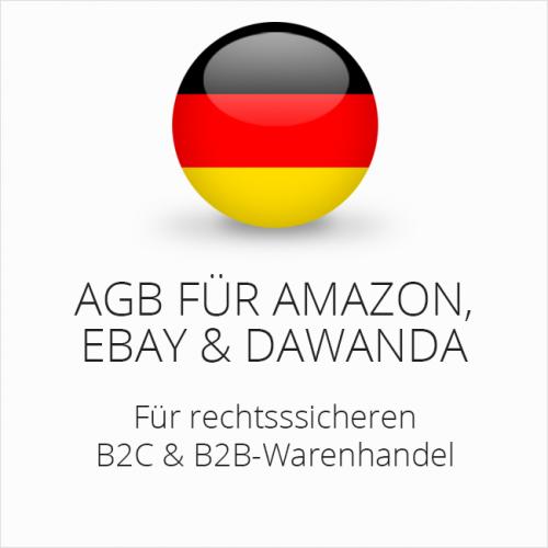 Rechtssichere AGB für Amazon, ebay und DaWanda (B2C & B2B)
