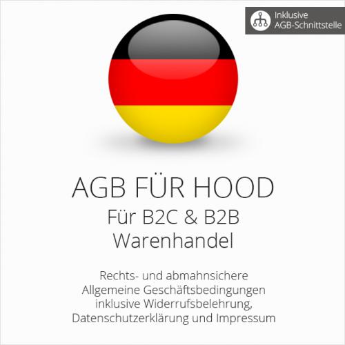 Abmahnsichere AGB für Hood B2C & B2B mit AGB-Schnittstelle