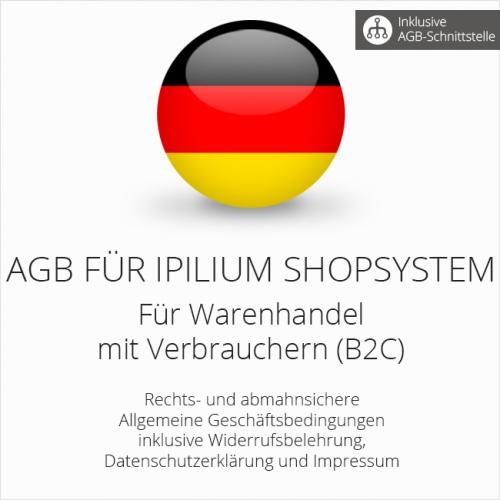 Rechtssichere AGB für Ipilum Shopsystem mit AGB-Schnittstelle
