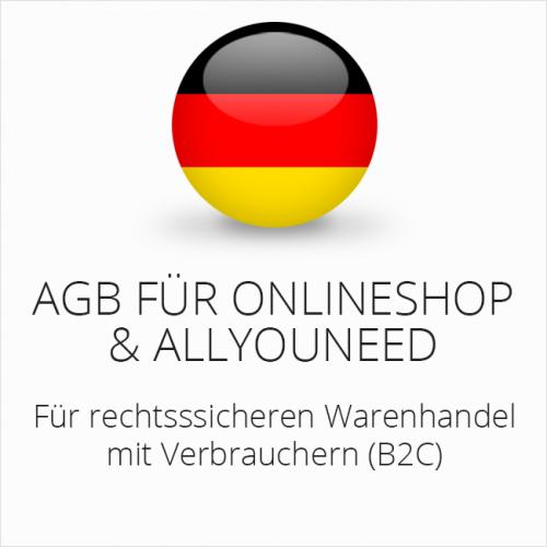 Rechtssichere AGB für Onlineshop und allyouneed