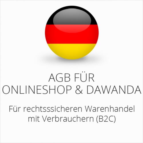Rechtssichere AGB für Onlineshop und Dawanda