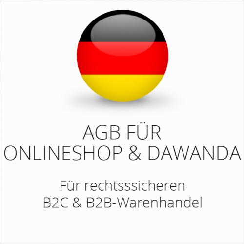 Rechtssichere AGB für Onlineshop und DaWanda B2C & B2B