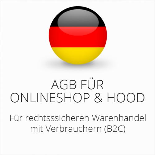 Rechtssichere AGB für Onlineshop und Hood