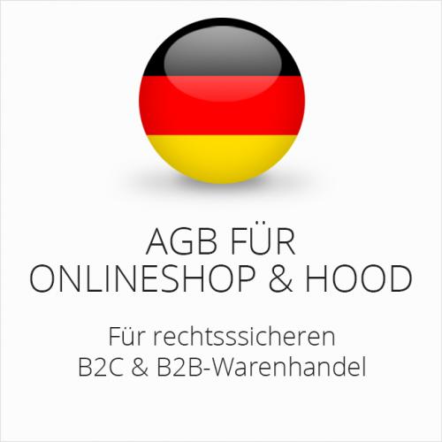 Rechtssichere AGB für Onlineshop und Hood B2C & B2B