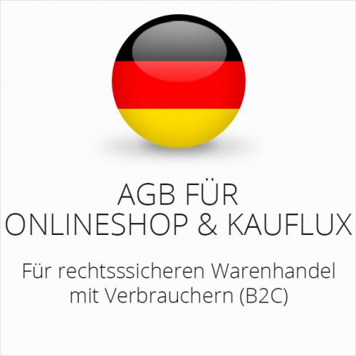Rechtssichere AGB für Onlineshop und Kauflux