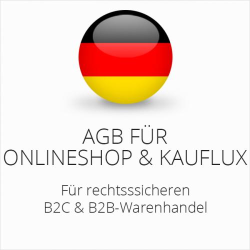 Rechtssichere AGB für Onlineshop und Kauflux B2C & B2B