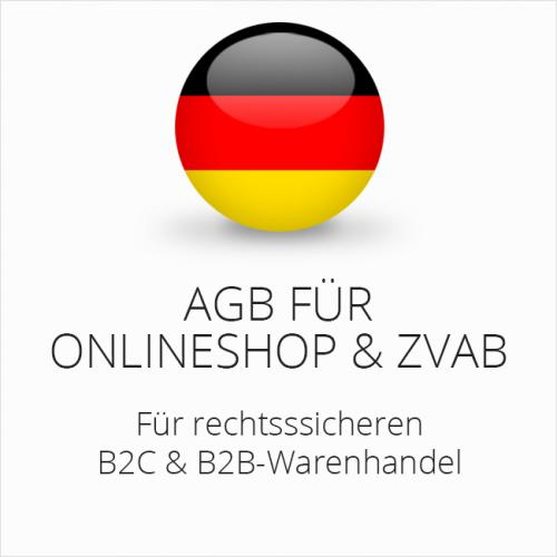 Rechtssichere AGB für Onlineshop und ZVAB B2C & B2B