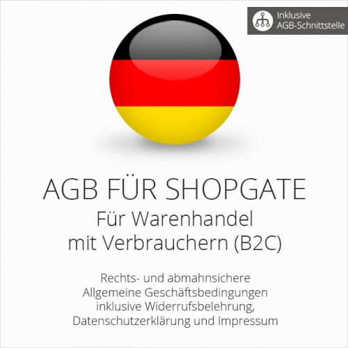 Rechtssichere AGB für Shopgate mit AGB-Schnittstelle