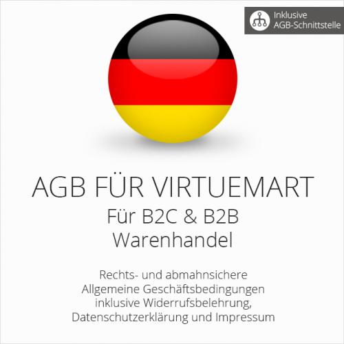 Abmahnsichere AGB für VirtueMart B2C & B2B mit AGB-Schnittstelle