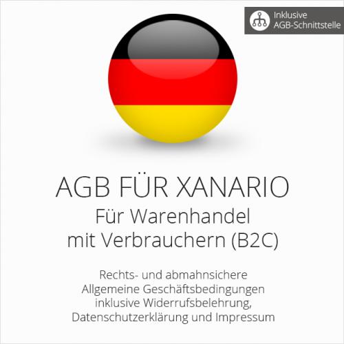 Rechtssichere AGB für Xanario mit AGB-Schnittstelle
